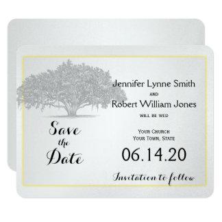 Economias Mossy de prata cinzentas amarelas do Convite 10.79 X 13.97cm