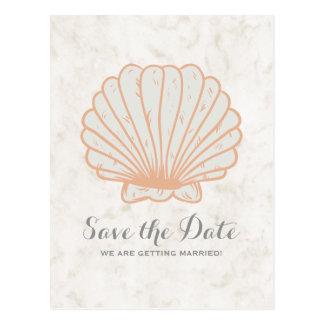 Economias rústicas alaranjadas do Seashell o Cartão Postal