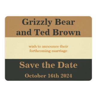 Economias simplificadas do orgulho do urso o convite 16.51 x 22.22cm
