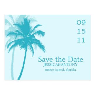 Economias tropicais do casamento das palmeiras a d cartões postais