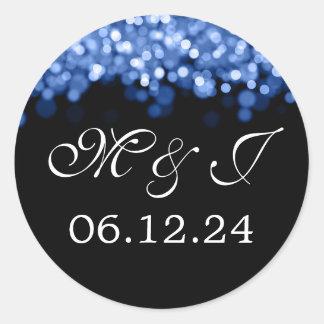 Economias Wedding as luzes do azul da data Adesivo