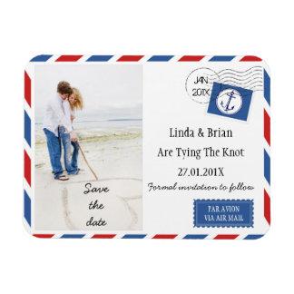 Economias Wedding o ímã do envelope do correio Foto Com Ímã Retangular