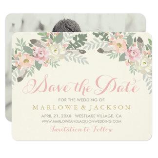 Economias Wedding o primavera Boho do cartão de Convite 10.79 X 13.97cm