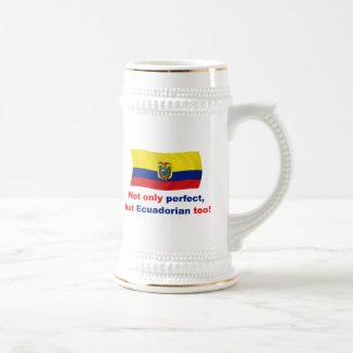 Ecuadorian perfeito caneca de cerveja