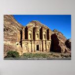 """""""Ed-Deu"""", templo, PETRA, Jordão Poster"""