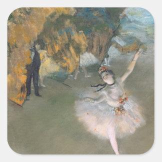 Edgar Degas   a estrela, ou dançarino no palco Adesivo Quadrado