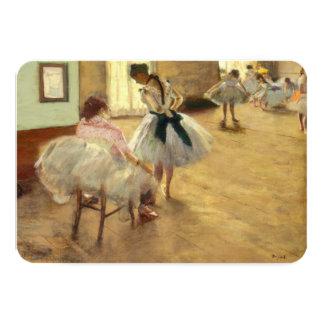 Edgar Degas a lição de dança Convite Personalizado