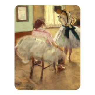 Edgar Degas a lição de dança Convite 10.79 X 13.97cm