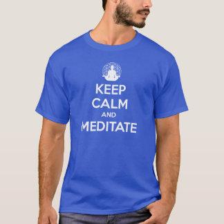 EDIÇÃO LIMITADA:  Mantenha a calma e Meditate T-shirt