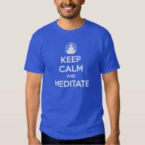 EDIÇÃO LIMITADA:  Mantenha a calma e Meditate Tshirts