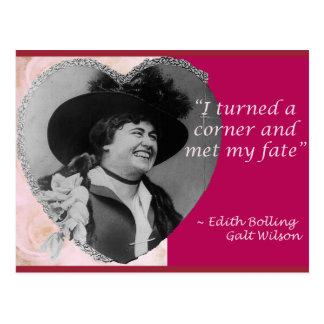 Edith Bolling Galt - destino Cartão Postal