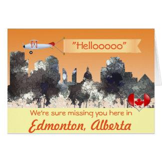 Edmonton Alta. Skyline-BATATA FRITA Cartão