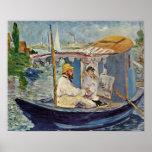 Edouard Manet - retrato de Claude Monet Pôsteres
