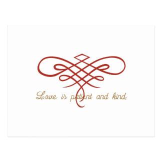 Edredão do amor do casamento cartão postal
