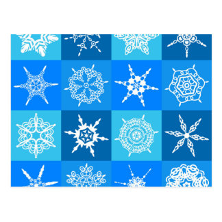 Edredão do floco de neve cartão postal