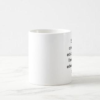 educação caneca de café