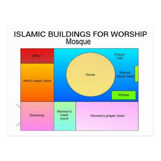 Educação, religião, construções islâmicas para o cartão postal