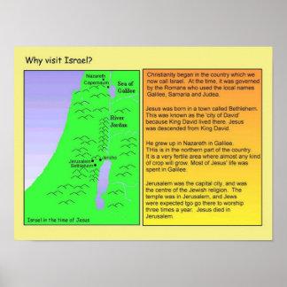 Educação, religião, cristandade, visita Israel Pôsteres