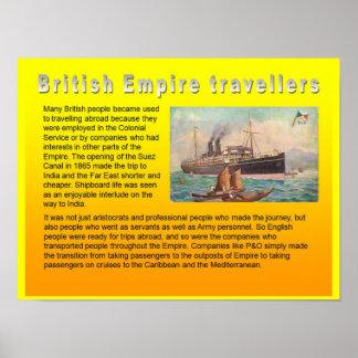 Educação, viagem e turismo, viagem do Império Brit Poster