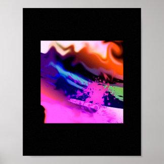 "Educar ""ausgeschüttet"" multicolor abstractamente posteres"