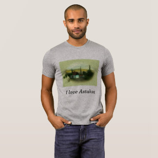 Educar paisagem alpargata j Astakos love Retro Camiseta