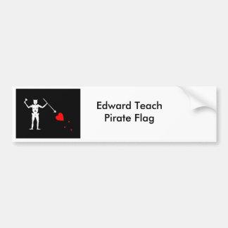 Edward ensina a bandeira de pirata adesivo para carro