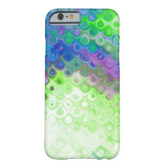 Efeito azul, verde, roxo do metal da gota do rasgo capa iPhone 6 barely there