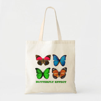 Efeito de borboleta bolsa tote