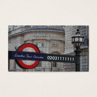 Efeito do mosaico do viagem da cidade de Londres Cartão De Visita