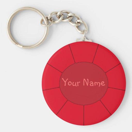 Efeitos modernos vermelhos do chaveiro + Seu nome