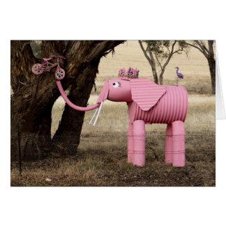 Efervescente o elefante cartão comemorativo