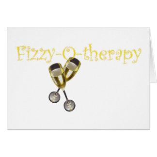 Efervescente-o-terapia Cartão Comemorativo