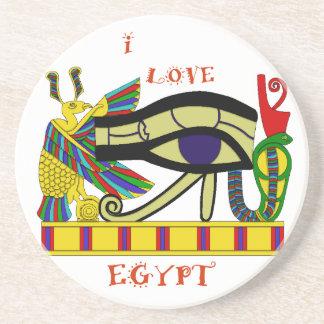 Egipto de amor porta copos de arenito
