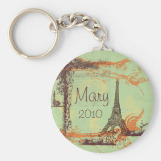 Eiffel Tower in Green Key Chain