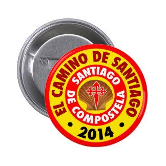 EL Camino de Santiago 2014 Bóton Redondo 5.08cm