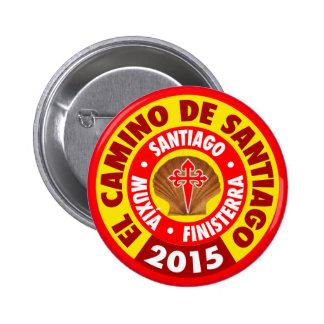EL Camino de Santiago 2015 Bóton Redondo 5.08cm