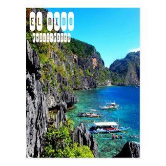 EL Nido no cartão de Filipinas