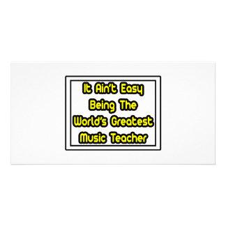 Ele professor de música… do mundo fácil de Aint o  Cartões Com Fotos Personalizados