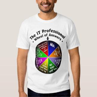 ELE roda do profissional das respostas T-shirt