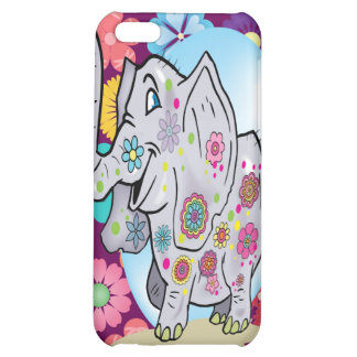 Elefante bonito do Hippie com flores coloridas