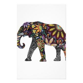 Elefante colorido papelaria