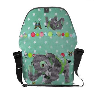 Elefante da estrela mensageiro verdes afortunado bolsa mensageiro