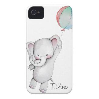 Elefante do bebê com a caixa de Blackberry do Capas Para iPhone 4 Case-Mate
