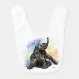 Elefante do bebê que joga o babador