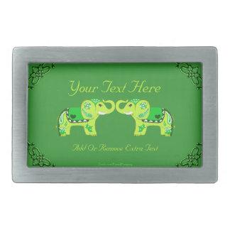 Elefante do Henna (verde/verde limão)