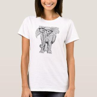 elefante do hipster camisetas