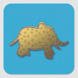 elefante do ouro adesivo quadrado