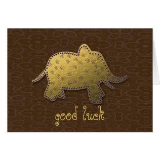 elefante do ouro cartão comemorativo