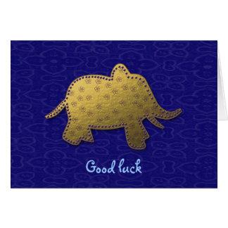 elefante do ouro cartão