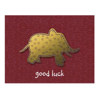 elefante do ouro cartões postais